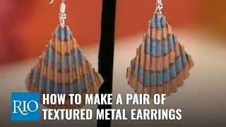 How To Make a Pair of Textured Metal Earrings