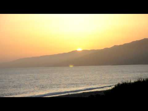 santa monica beach CA sunset --- camera  Nikon D90 Movie in HD