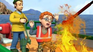 Strażak Sam  Kapitan Norman - Ogień na łodzi! | nowe odcinki Bajki dla dzieci