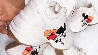 Giày Thể Thao Nữ Hình CHUỘT MICKEY siêu dễ thương – Giày sneaker nữ hot trend hè 2020, độn đế 5,5 cm