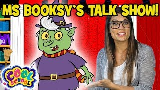Ms Booksy Interviews the Wicked Witch! 👻💚Ms Booksy Cartoon   Cartoons for Kids