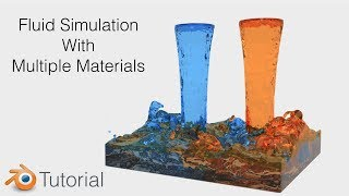 Blender Tutorial Fluid Simulation With Multiple Materials And Colors