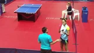 Manika Batra last set, Zagreb Open 2016