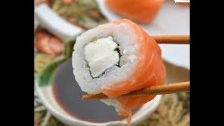 Суши-роллы моего приготовления. Японская домашняя кухня