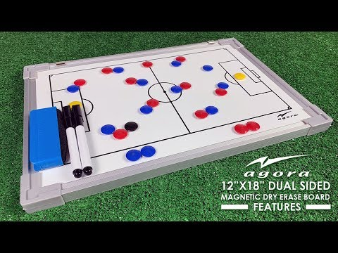 agora-soccer-coach-whiteboard---dual-sided-magnetic-dry-erase-board