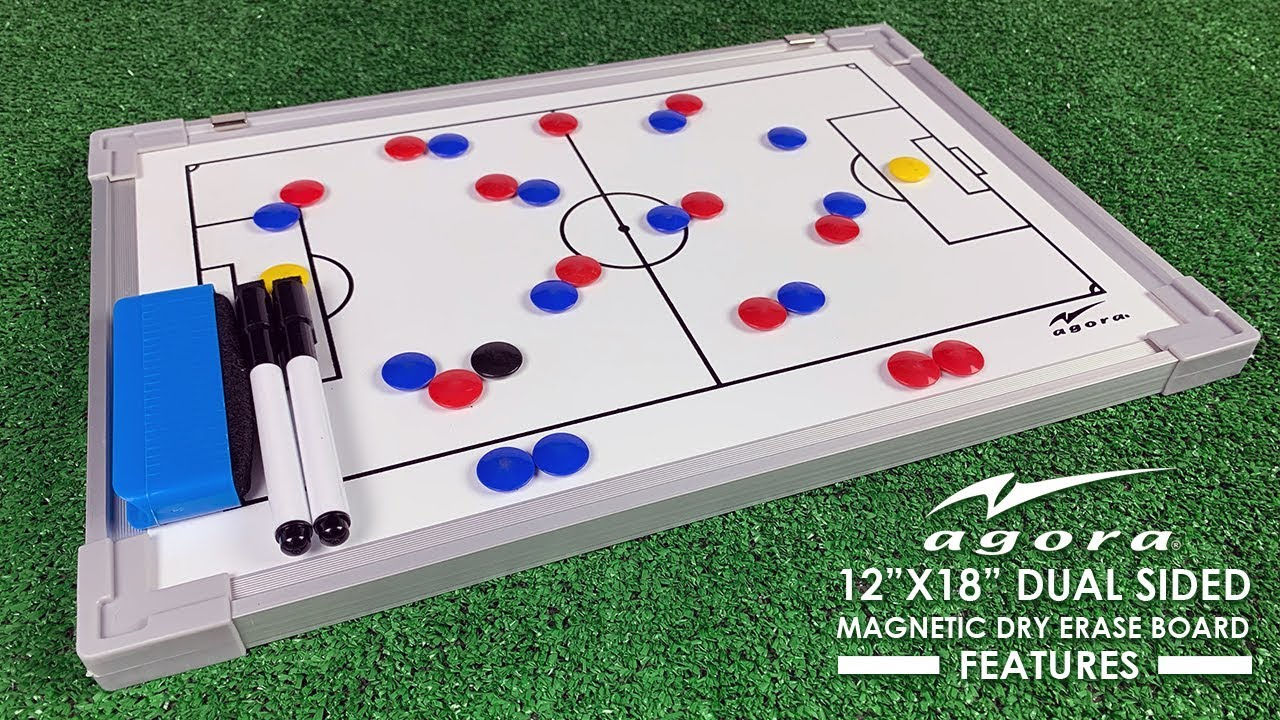 Magnetic Soccer Football Tactical Coaching Board Training Double-Sided Dry Erase