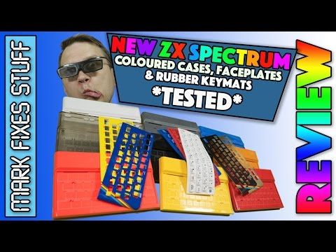 REVIEW and TEST - Brand New Multi-Coloured and Clear ZX Spectrum cases, Key Mats and Faceplates