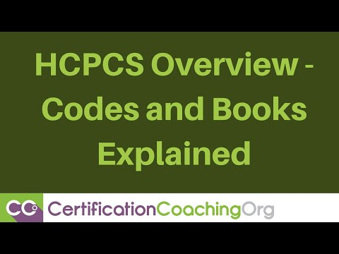 HCPCS Overview Codes and Books Explained