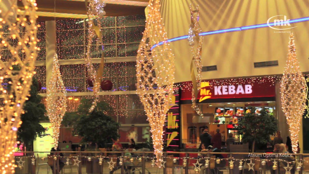 6bfcdbee3b Atrium Optima Košice - vianočná výzdoba Mk illumination - YouTube