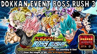 Video NEW BOSS RUSH STAGE! Dokkan Event Boss Rush 3 Stage! [GLOBAL] SUPER3 Difficulty | DBZ Dokkan Battle download MP3, 3GP, MP4, WEBM, AVI, FLV Juli 2018