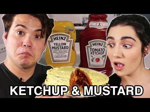 We Made A Ketchup And Mustard Cake