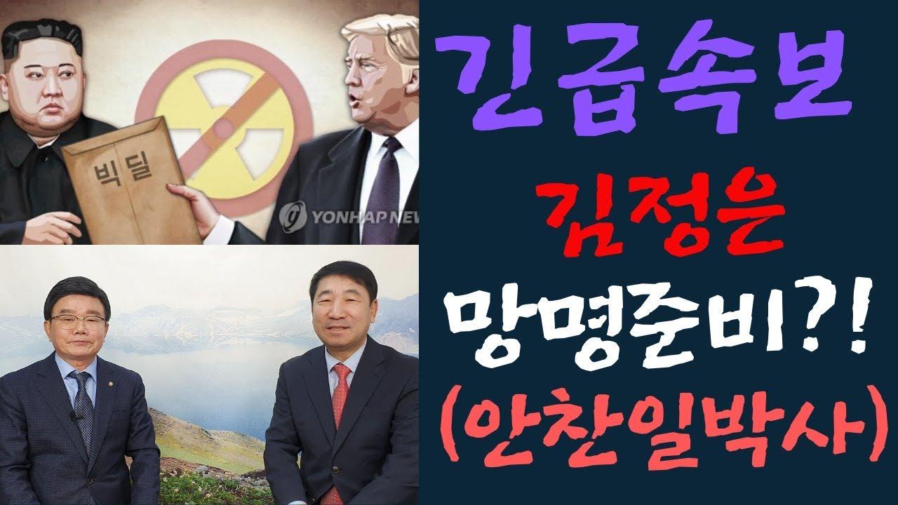 [긴급속보] 김정은, 망명 준비소식 입수!(ft.안찬일 박사)