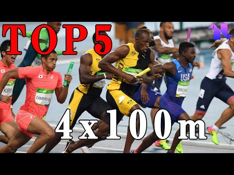 【陸上】男子4x100m世界歴代パフォーマンスTOP5 | Top 5 Fastes Men's 4x100m