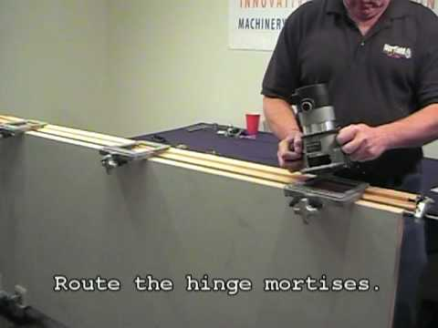 MasterLine HingeMaster Norfields Innovative Door PreHanging - Door jamb hinge template