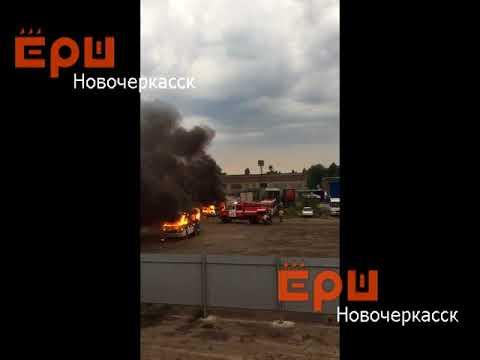 В Новочеркасске на стоянке дотла сгорели две маршрутки