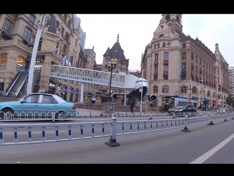 Huge Airplane in Guanggu Optics Valley Square - Wuhan City in 4k