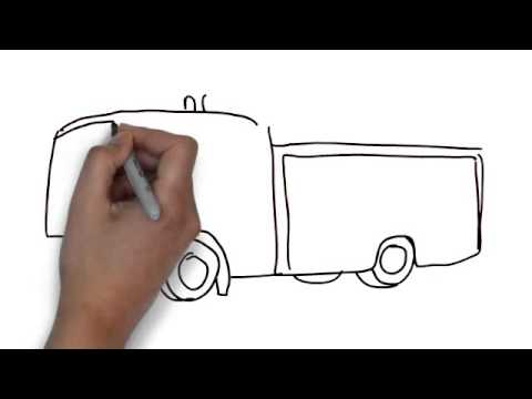 how to draw fire engine
