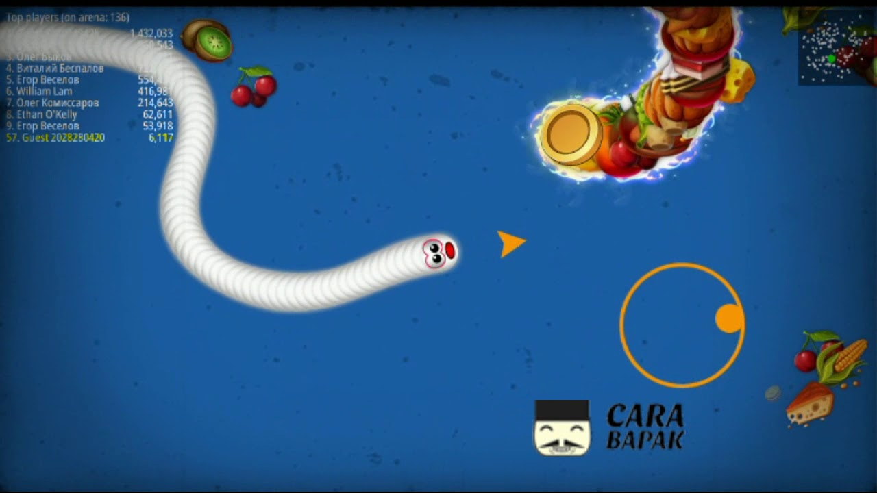 cara bermain worms zone io, seru banget! - YouTube