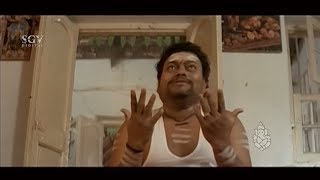 Drunken Sadhu Kokila Scolding His Parents | Super Kannada Comedy Scene of Auto Shankar Movie