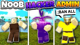 Roblox NOOB vs HACKER vs ADMIN SKY BASE BUILD in BOOGA BOOGA