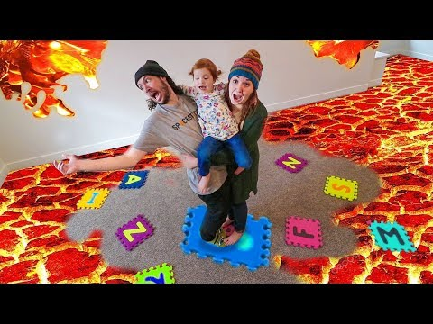 Lava Monster!! THE FLOOR IS LAVA CHALLENGE (new board game)