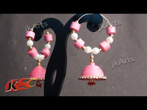 Jewellery making using quilling paper flowers