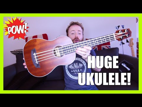 BIGGEST UKULELE IN THE WORLD?!? (Bass Ukulele Unboxing!)