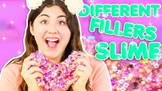 BEST CRUNCHY SLIME EVER! PUTTING ALL FILLERS IN SLIME | Slimeatory #309