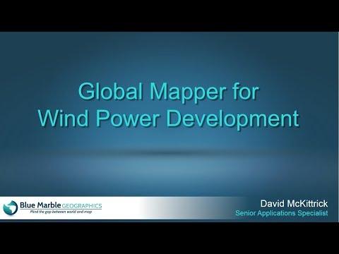 Global Mapper for Wind Power Development