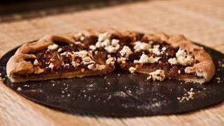 Video Recipe : Caramelized Onion Tart With Ricotta And Chilli Flakes