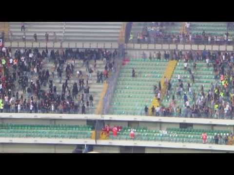 Scontri ultras Verona vs Milan (24/8/13)