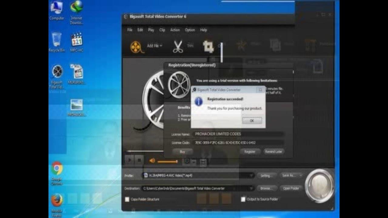 Bigasoft Total Video Converter Premium 6 0 4 6443 Serial Youtube