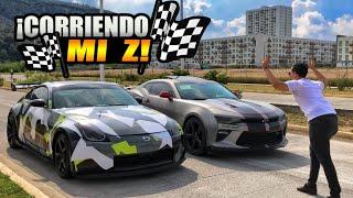 ¡CORRIENDO MI Z VS CAMARO! | ManuelRivera11