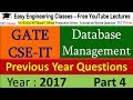 DBMS for GATE 2018 - Previous Year Solved Question on Delete, Update, Cascade Options