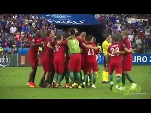 Jogadores Portugueses filmados de outro angulo na Final do Euro 2016