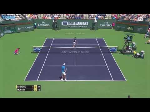 2015 BNP Paribas Open Semi-Final Highlights - Djokovic v Murray & Raonic v Federer