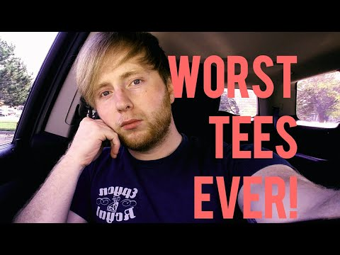 Worst shirts for screen printing