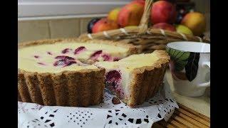 """Рецепт- Пирог """"Сливовое наслаждение"""" l Сметанная заливка, творожное тесто"""