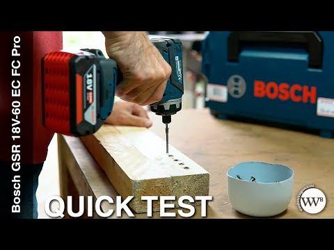 Видео обзор: Дрель- шуруповерт аккум BOSCH GSR 18V-60 FC Set + 4 насадки