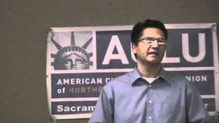Abdi Soltani, Exec Dir ACLU of Northern California, speaks at Sacramento County Chapter (1 of 3)