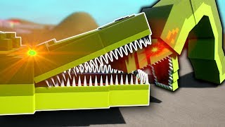 GIANT CROCODILE & SNAKE BATTLE! - Brick Rigs Multiplayer Gameplay - Tower Survival Challenge