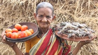 How To Cook Tomato With Prawns Curry By My Grandma || Myna Street Food || Food Info