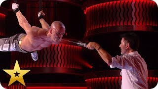 Fearless Alex Magala attempts DEADLIEST death drop yet! | BGT: The Champions