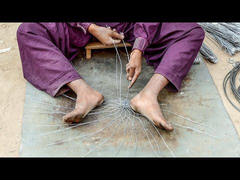 Amazing Skills of Crafting Metal Wire Basket