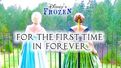 For The First Time In Forever in REAL LIFE - Evynne Hollens & Malinda Kathleen Reese -  FROZEN