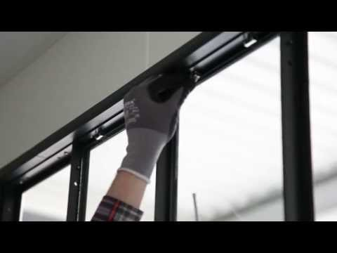 verriere d'atelier modulaire - pose d'une verrière