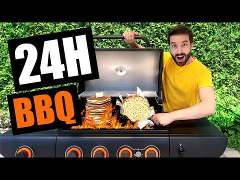 JE CUISINE AU BBQ PENDANT 24H AVEC 20$ - CARL IS COOKING