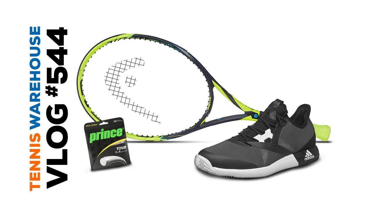 New Head racquets, adidas shoes