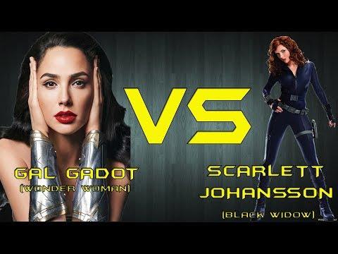 GAL GADOT(Wonder Woman) VS SCARLETT JOHANSSON(Black Widow)