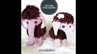 Amigurumi mamut ,amigurumi fil son bölüm, çiçek ve kuyruk yapımı